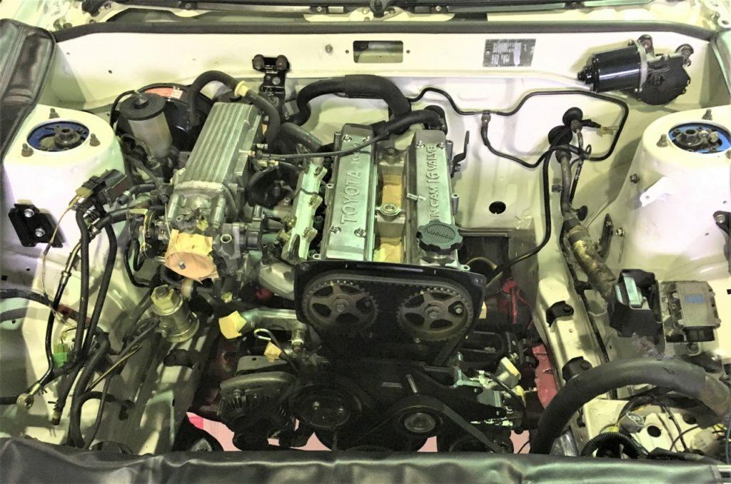 16バルブ4A-Gエンジンの搭載完了